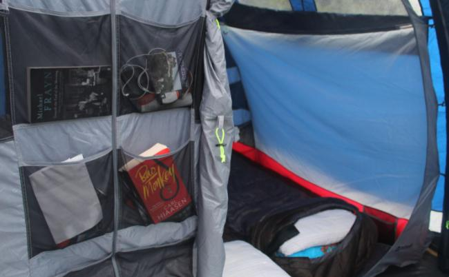 tent with mesh pocket