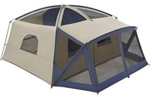 ozark trail 12 person tent with a screen porch