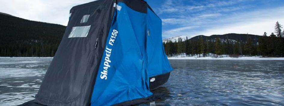 2 men ice fishing tent