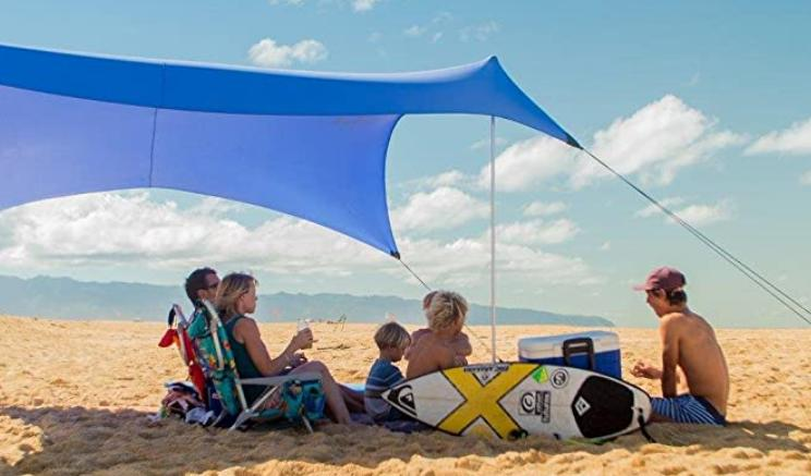 how to set up a beach canopy