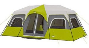 core 12 person instant cabin tent with 3 rooms