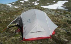 a lightweight freestanding tent