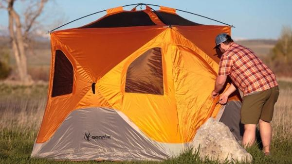guides to set up a pop up tent