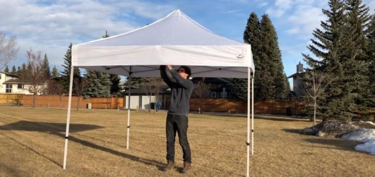 guides to tie down a canopy tent