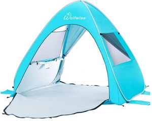 choose a beach tent with easy setup