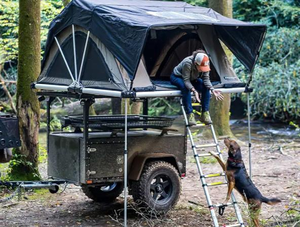 get your dog into your rooftop tent
