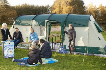 How big is a 10 person tent