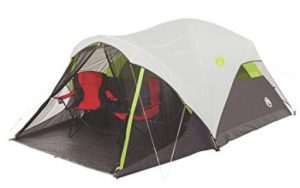 6 person 4 season tent with a screen room