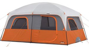 best core 2 door 10 person tent for rainy and windy days