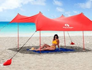 Red Suricata Family Tent for Beach