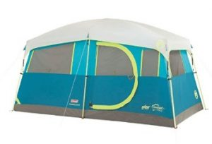 best tent for rain with a closet and shelves