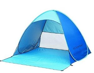 Automatic Pop Up Instant Portable Cabana Beach tent for the wind