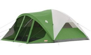 coleman 8 person tent with a screen room