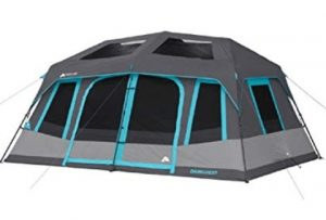 ozark trail 10 person tent with dark room