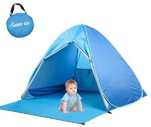 portable pop up sun shelter for baby beach camping