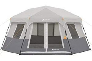 Ozark Trail 8 person tent with pre-attached poles