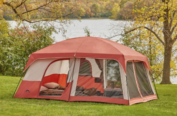 a 2 room tent with screen room