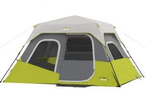 CORE 6 person instant cabin tent with gear loft and large wall organizer