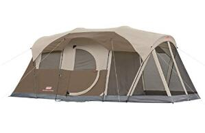 Coleman Weathermaster 6 man tent for rainy day camping