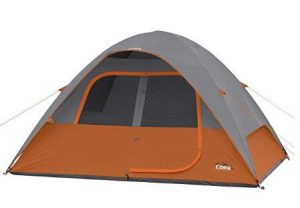 core 6 man camping tent with adjustable vent
