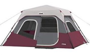 Core 6 man camping tent with large wall organizer