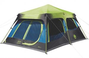 Coleman 10 person cabin tent with dark room for camping