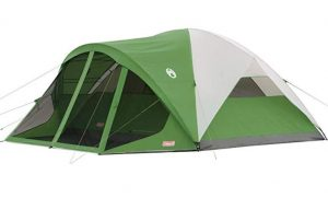Coleman 8 man dome tent with screened porch
