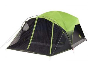 Coleman camping tent with large screen porch