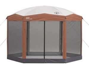 Coleman gazebo tent for beach camping