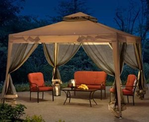 Gazebo tents with nets for patios