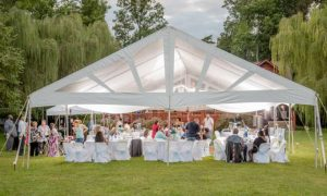 frame tent for wedding events