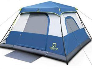 Waterproof pop up 4 man tent under 100