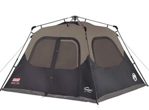 Coleman 6 man tent with dark technology room