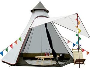 teepee tent for backyard camping or indoor use