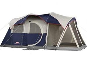 Coleman screened tent for camping with kids