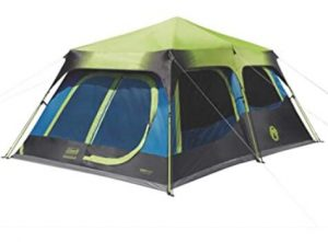 Coleman tent with dark room for blocking sunlight