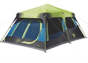 Coleman 10 person dark room tent under 300