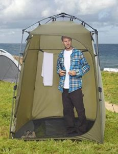Lightspeed portable shower tent with tall ceilings