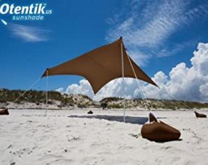 portable sun shade for windy beach