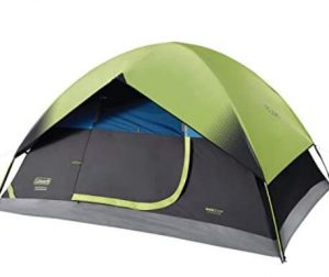 Coleman dark room tent for camping