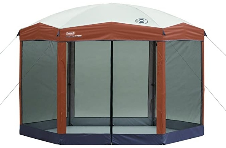overview of coleman screened canopy tent 12x10