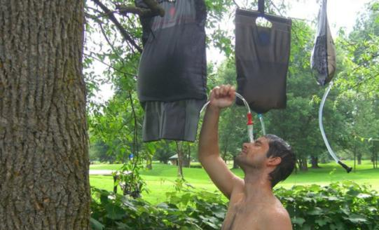make camp shower device by yourself