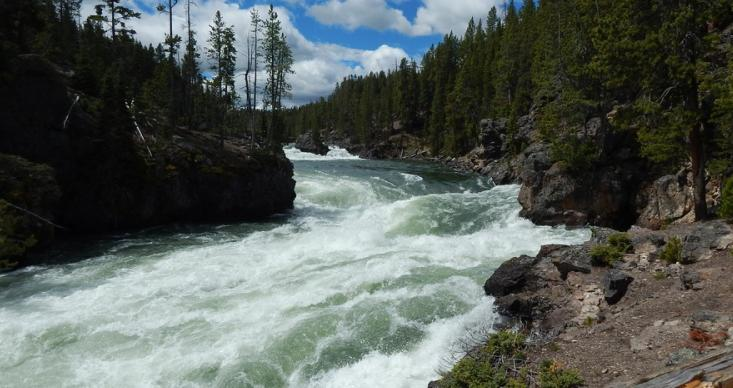 choosing a campsite away from water resource
