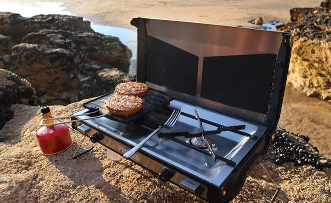 use stove to cook when camping in the rain