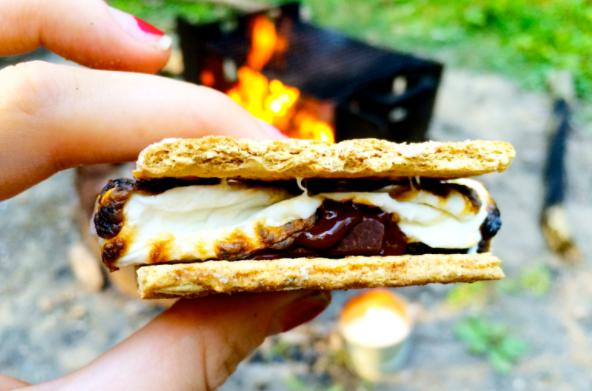 carry s'more when you camp for the first time