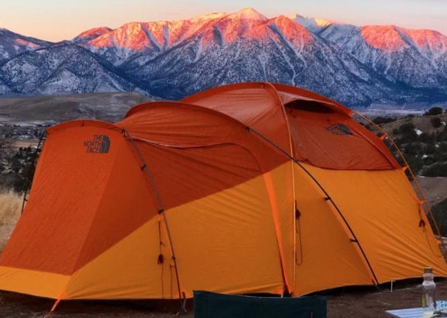 choose a high campsite