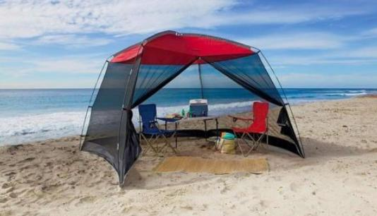 use a sun shelter to prevent UV