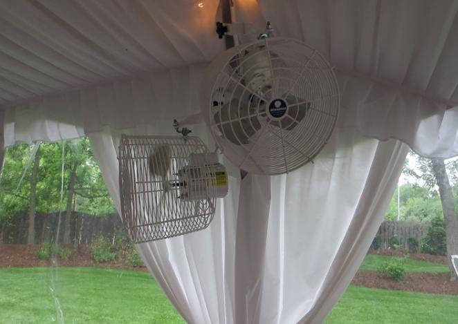 use fans in your family tent