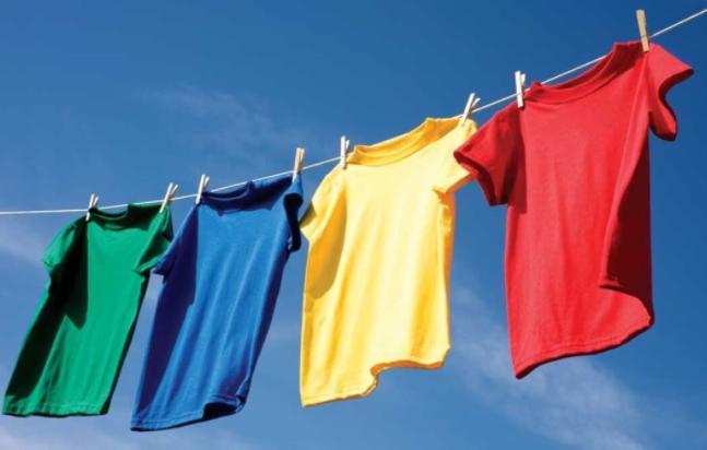 prepare clothesline when camping in the rain
