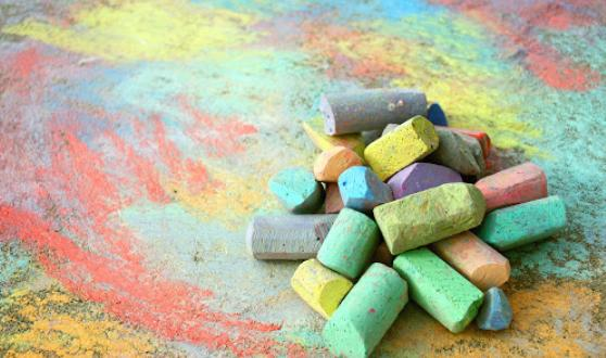 take some sidewalk chalks if your kids love painting